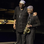Randy Weston & Billy Harper at Nate Holden Performing Arts Center, Friday, November 22, 2013. Photos reproduced by Bob Barry's kind permission.