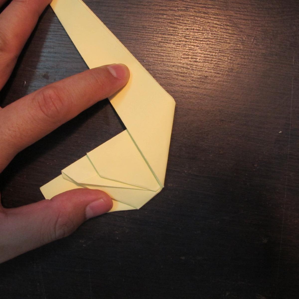 วิธีการพับกระดาษเป็นรูปหงส์ 014