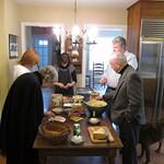 The feast begins