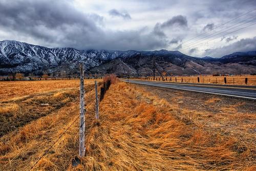 road storm grass rain clouds fence post laketahoe pasture fields carsonvalley kingsburygrade