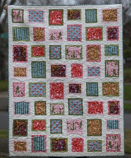 Area Code quilt pattern with Monaluna's Meadow collection