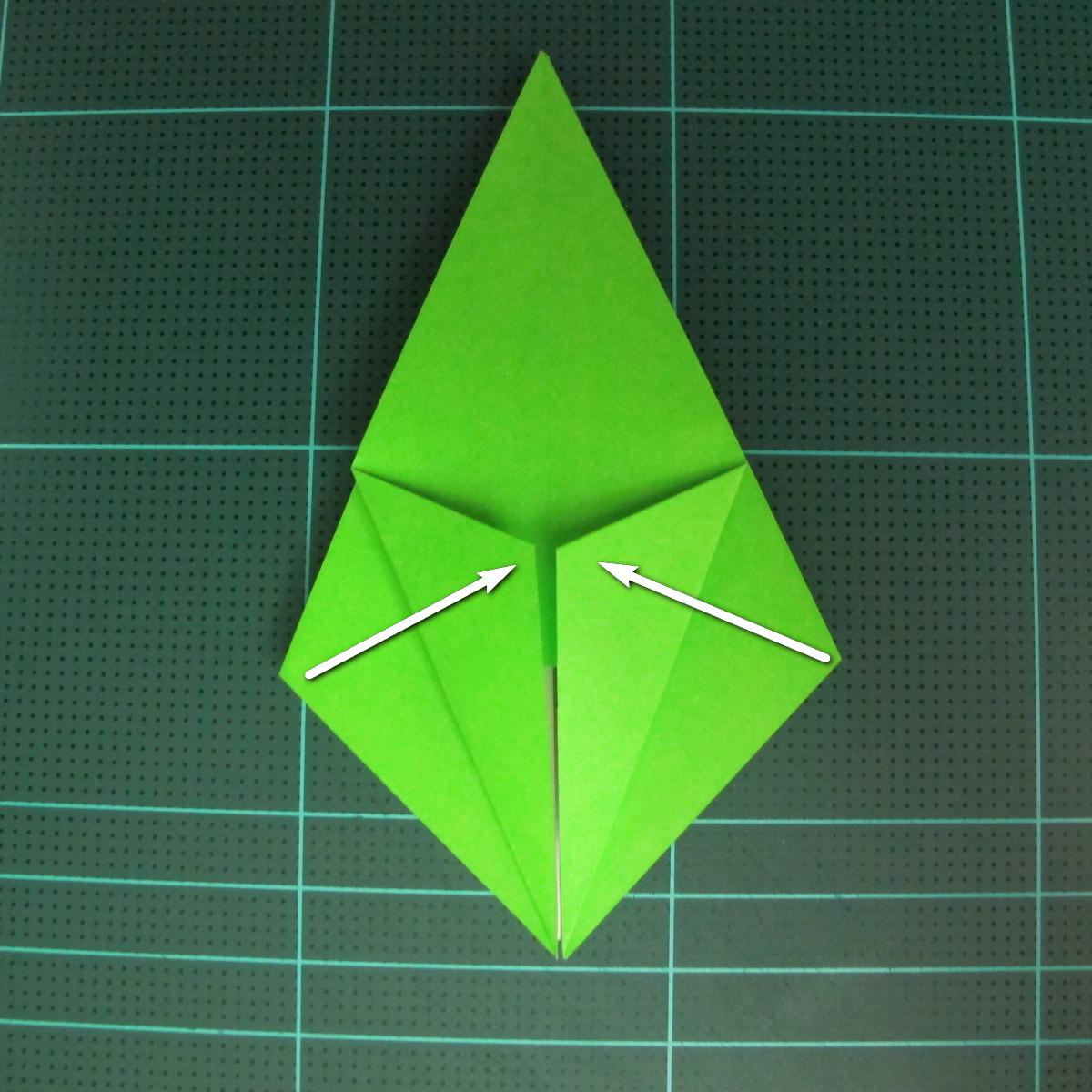 วิธีพับกระดาษเป็นจรวด X-WING สตาร์วอร์ (Origami X-WING) 014