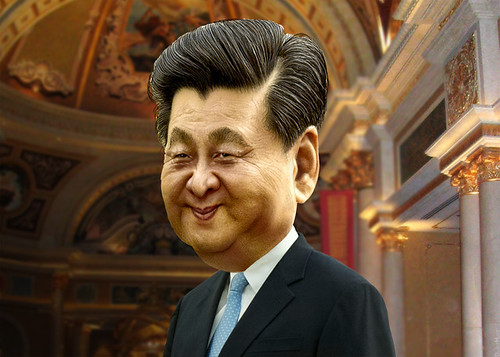 Xi Jinping - Caricature, From CreativeCommonsPhoto