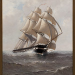 """USS Constitution Under Sail"" Artist Marshall Johnson, USS Constitution Museum collection"