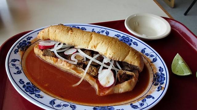 Torta Ahogada  from Taqueria Jalisco in Des Moines, Iowa
