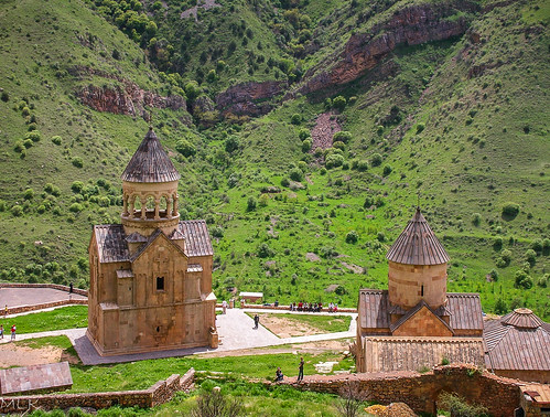 2006 armenia marina noravank architecture church family friends landscape nature spire village wall areni vayotsdzor