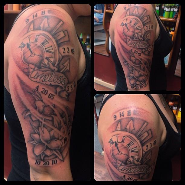 Timeless Tattoo Clocktattoo Watchtattoo Timeless Tatto