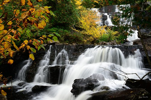 water landscape waterfall quebec mounttremblant chuteauxrats nikond800
