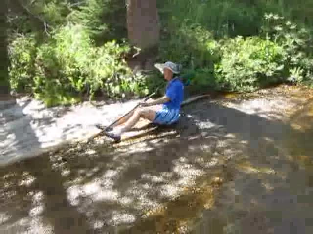 2755 Video of Vicki butt-sliding in Spiller Creek - I was so shocked at how fast she went I forgot to track her with the camera