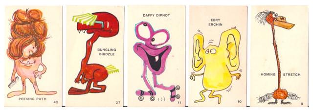 1966 Nestle's Keen Chiller Cards