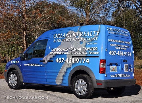 Transit Connect graphics wrap in Orlando
