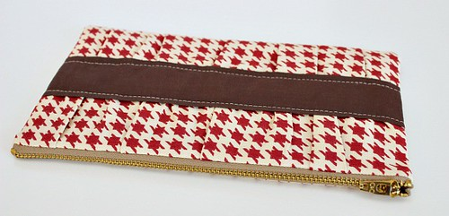 gathered clutch 2 | by Saltwater Quilts