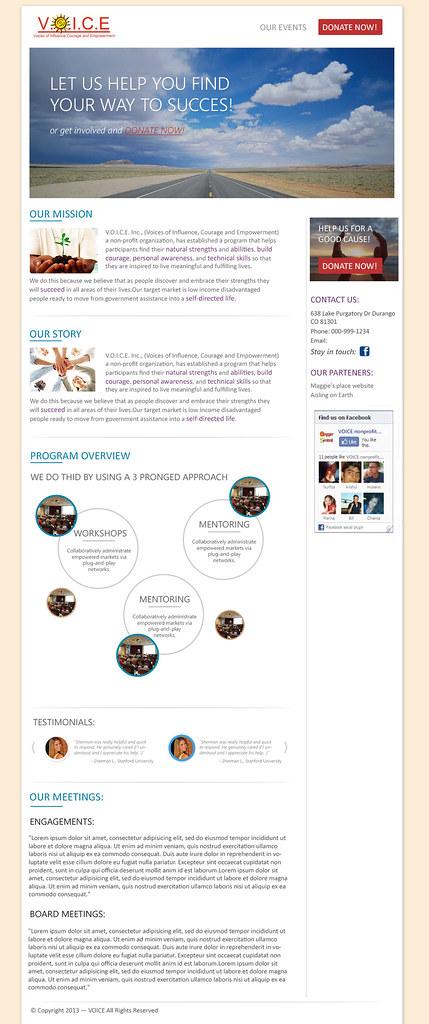 VOICE Non-Profit Website Design & Development