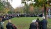 Traditionelle Kranzniederlegung und Gedenkgottesdienst des Bundes der Vertriebenen vor dem Vertriebenendenkmal auf dem Hauptfriedhof