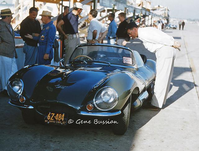 Jaguar XKSS at the 1957 Sebring 12-Hour GP