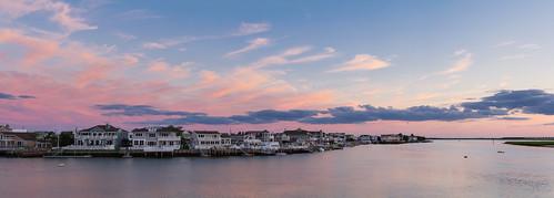 houses sunset vacation sky panorama clouds bay dusk nj stoneharbor
