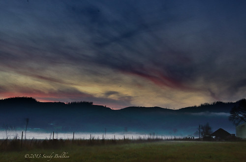 sunset fog oregon twilight forestgrove