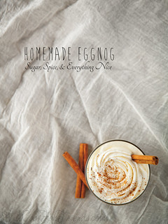 Homemade Eggnog (no raw eggs, and can be made with or without the alcohol) | by WillCookForFriends