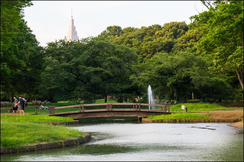Estanques y fuentes del parque Yoyogi
