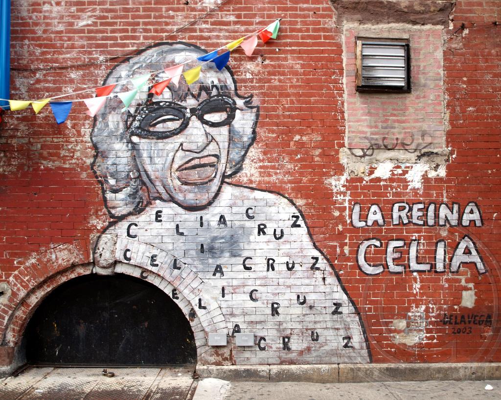 Foto Murales New York.La Reina Celia Cruz Graffiti Mural East Harlem New York