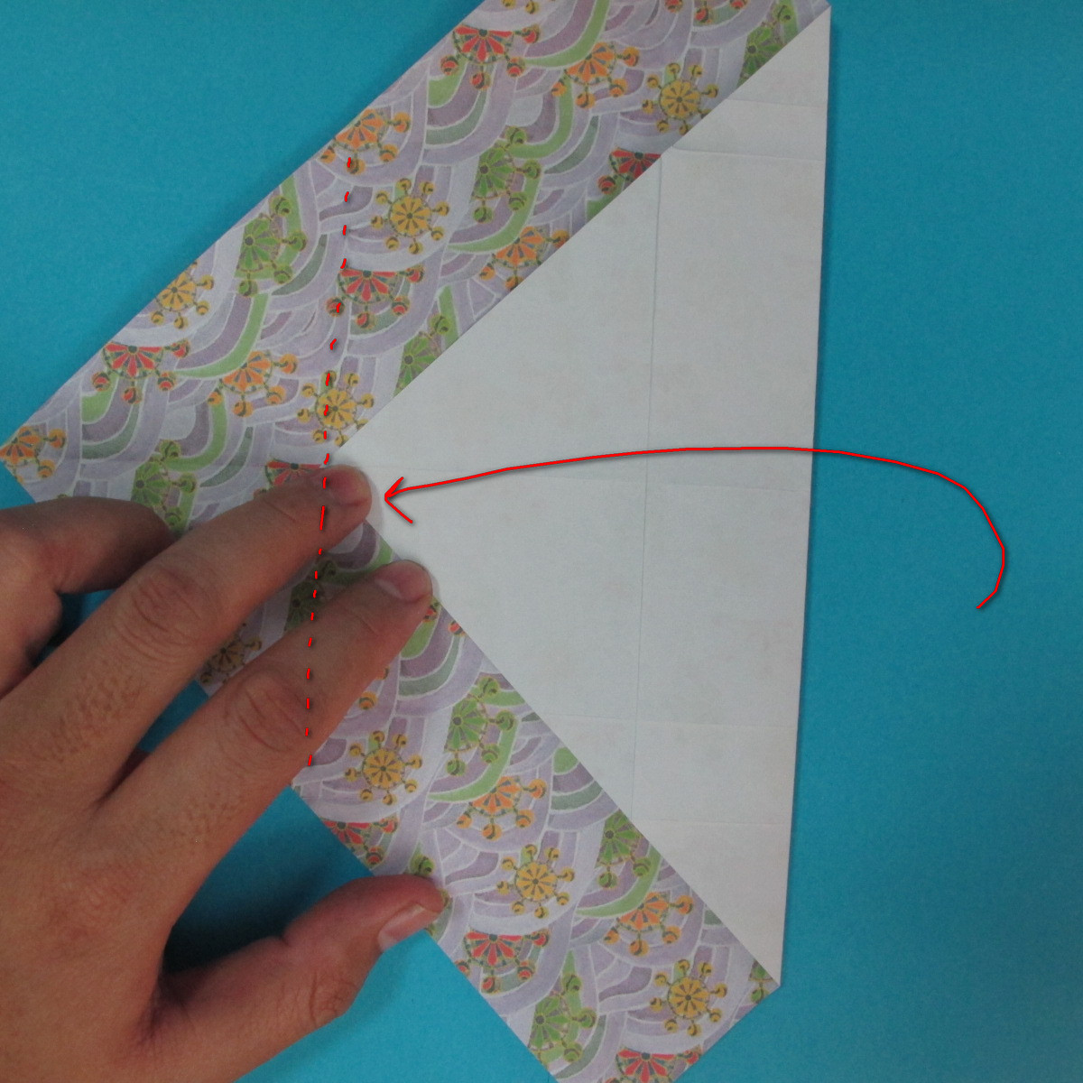 สอนวิธีพับกระดาษเป็นช้าง (แบบของ Fumiaki Kawahata) 017