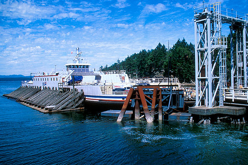 Ferry Terminal at Gabriola Island, Gulf Islands, Georgia Strait, British Columbia, Canada