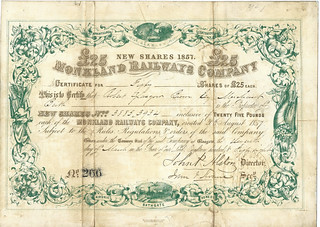 Monkland Railways Share certificate 1858 | by ian.dinmore