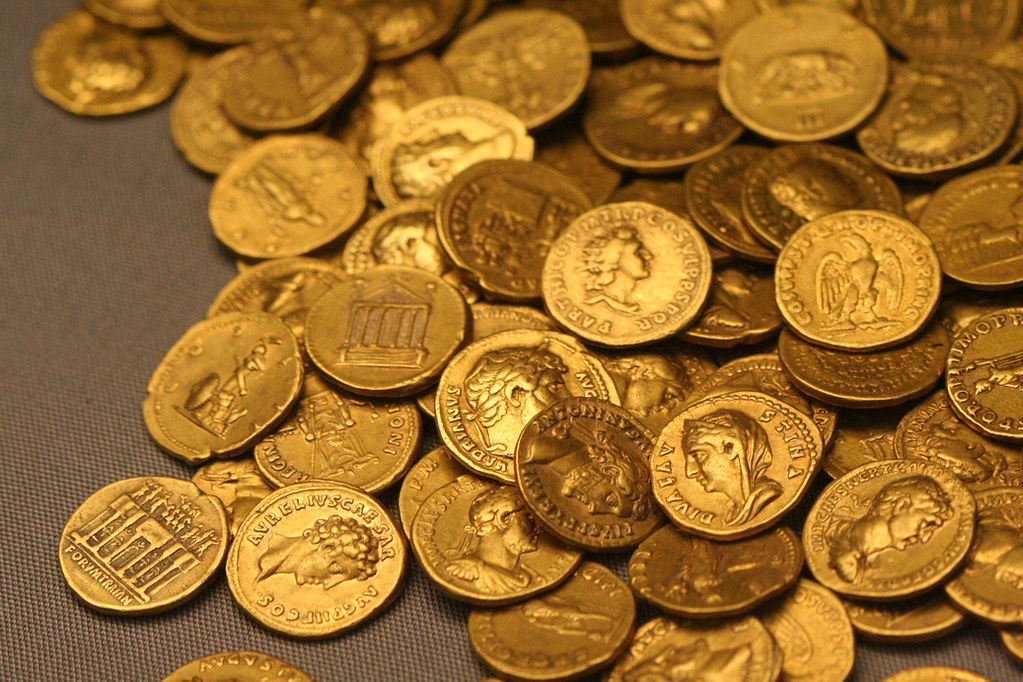 Roman Gold Coins | Part of the Corbridge Hoard in the Britis… | Flickr