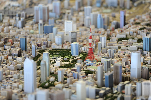 1/1000 architectural models of Tokyo city at Roppongi Hills Mori Tower in downtown Tokyo | by World Bank Photo Collection