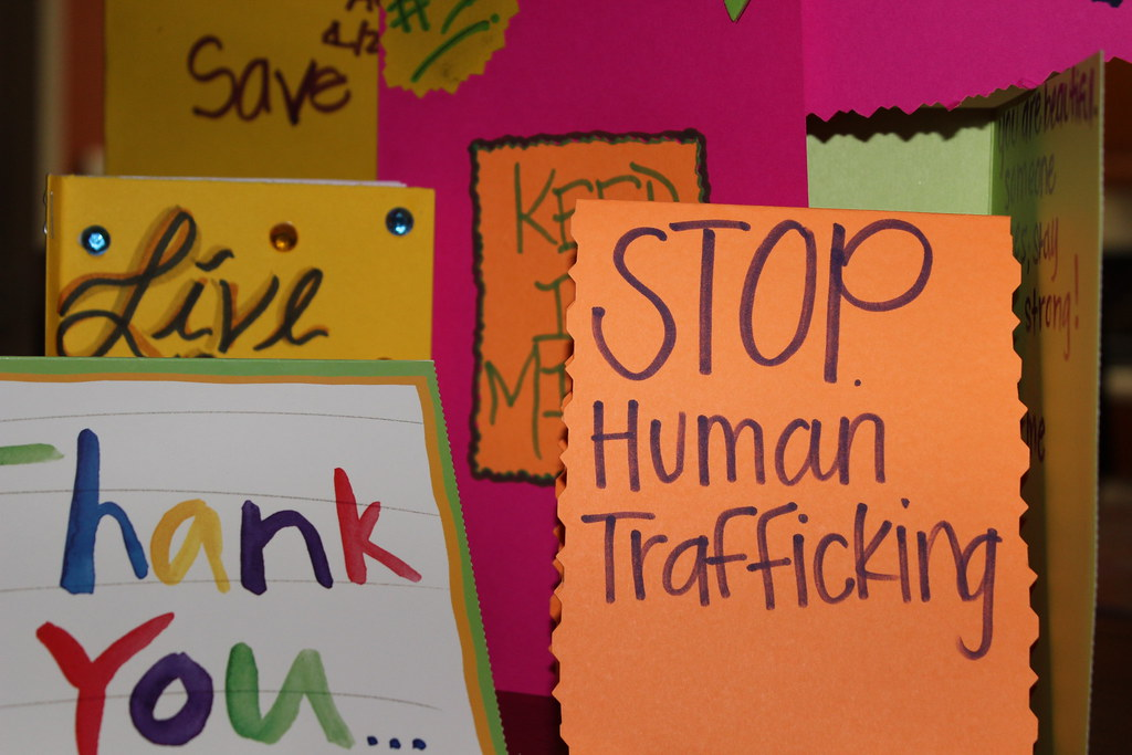 Stop Human Trafficking and Thank You to Supporters Message