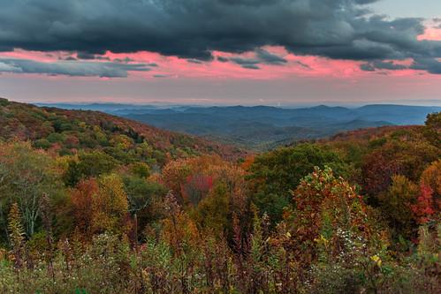 blue sunset usa canon nc day unitedstates cloudy mark united iii north northcarolina linville ridge parkway carolina 5d states miii 1635 mkiii pwfall
