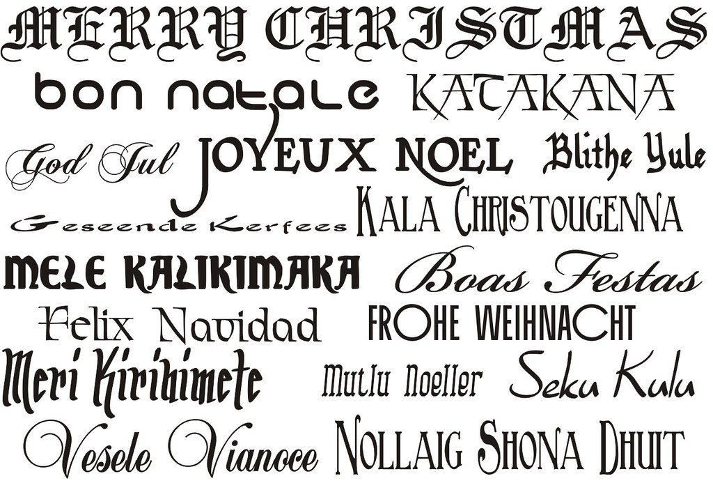 Merry Christmas In Different Languages.Merry Christmas In Different Languages Dennis Sylvester