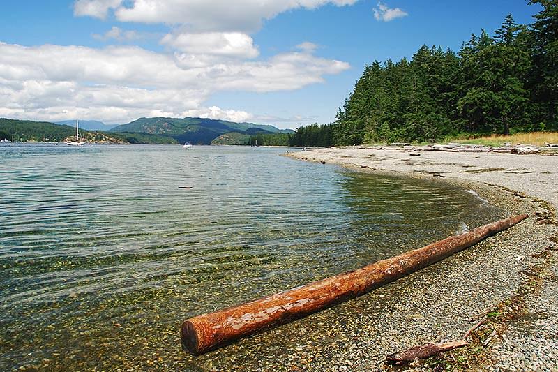 Rebecca Spit Marine Provincial Park, Quadra Island, British Columbia, Canada