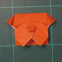 วิธีพับกระดาษเป็นที่คั่นหนังสือรูปหมาบูลด็อก (Origami Bulldog Bookmark) 019