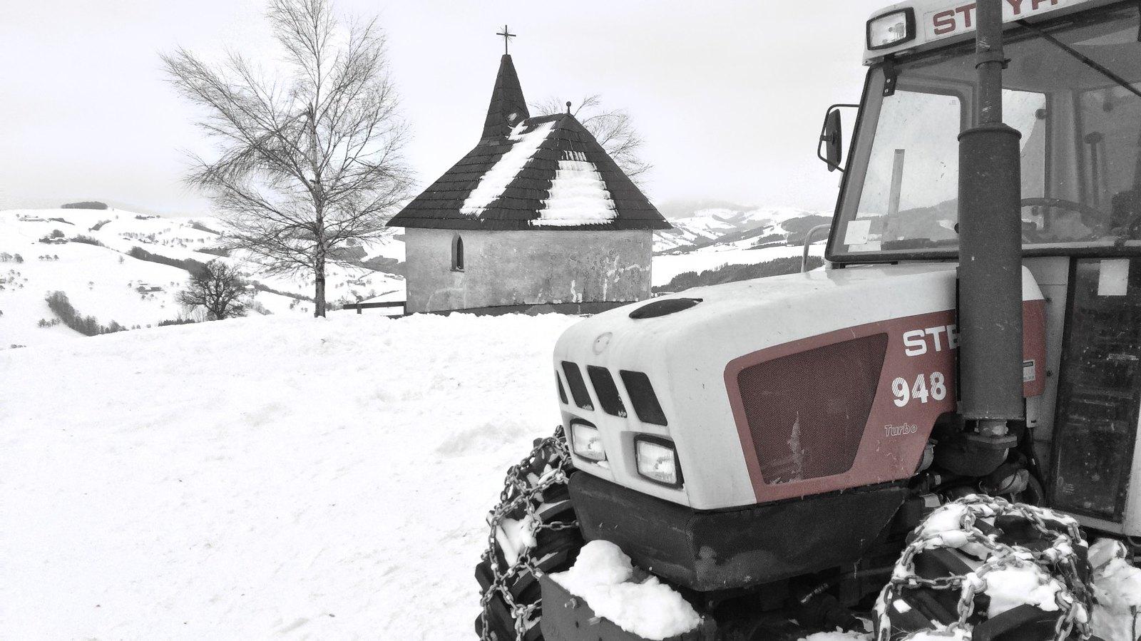 Novoroční loučkaření nad Steyrem (Geroldkapelle)