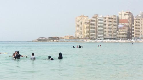 A family in the sea   by Kodak Agfa