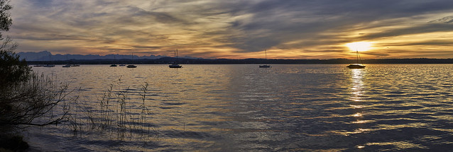 Goldene Stunde am See