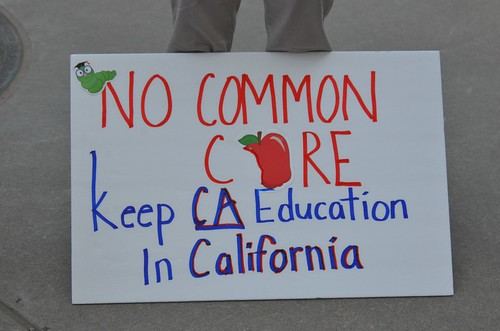 CA Eagle Forum protest against Common Core education curriculum at Capital in Sacramento | by Steve Rhodes
