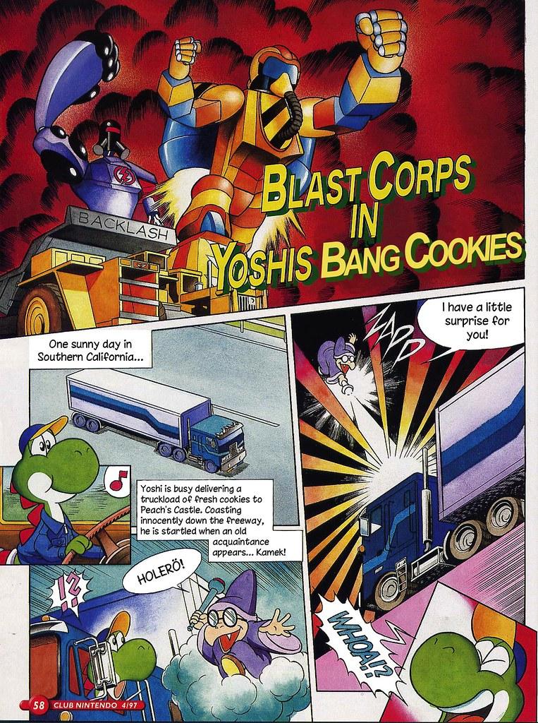 Blast Corps in Yoshi\'s Bang Cookies (German Club Nintendo ...
