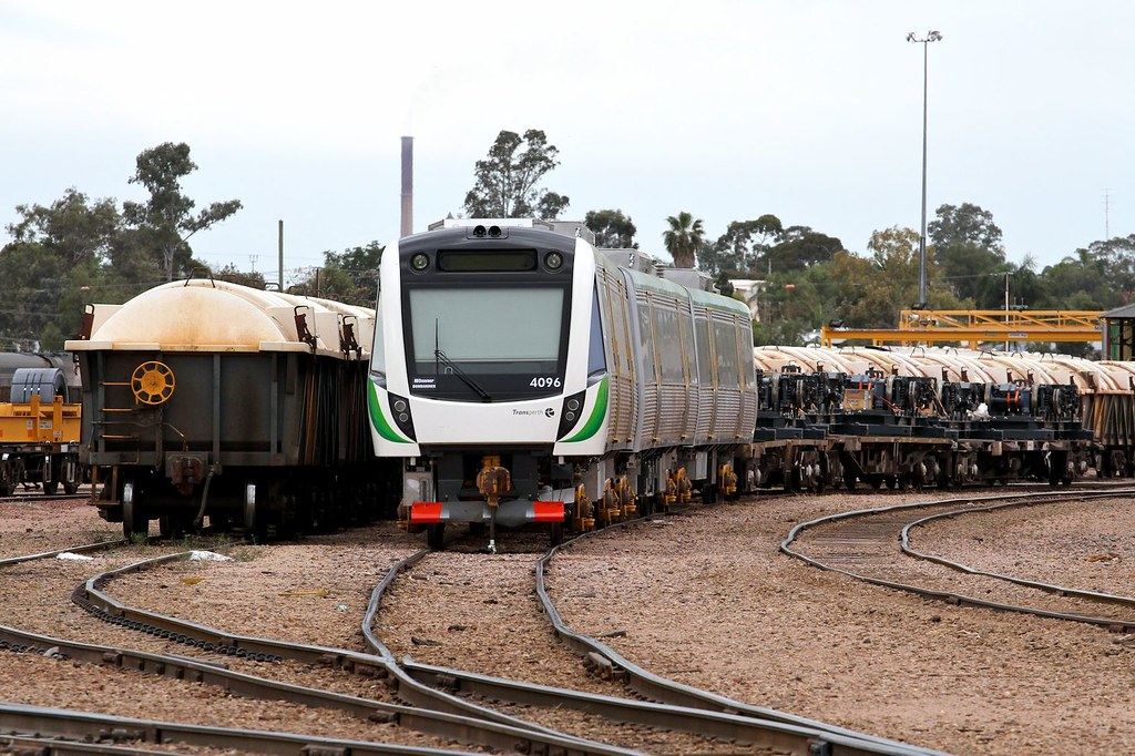 Trans Perth B Set car 4096 set 96 Spencer Junction Yard Port Augusta 27 10 2013 by Daven Walters
