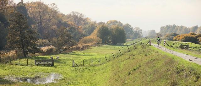 The historic waterkeringpad trail along the Dutch dikes