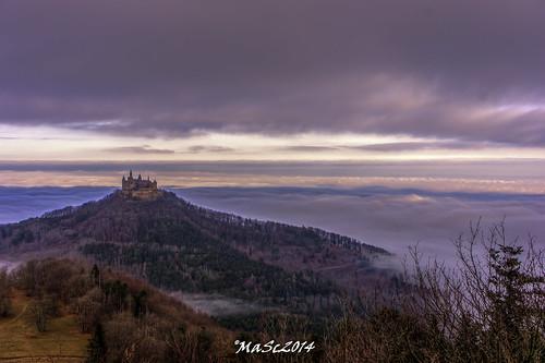 winter castle fog clouds sunrise germany landscape natur foggy landschaft burg hechingen burghohenzollern castlehohenzollern