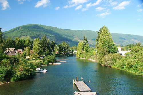 Duck Pond at Lake Cowichan, Cowichan Valley, Vancouver Island, British Columbia, Canada