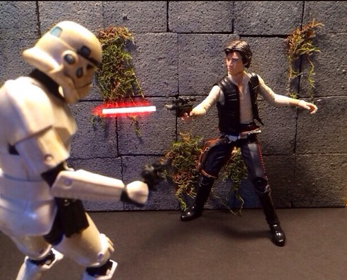 """Playing Around With Laser Blasts FX Star Wars Black Series 6"""" Line Shot #2 