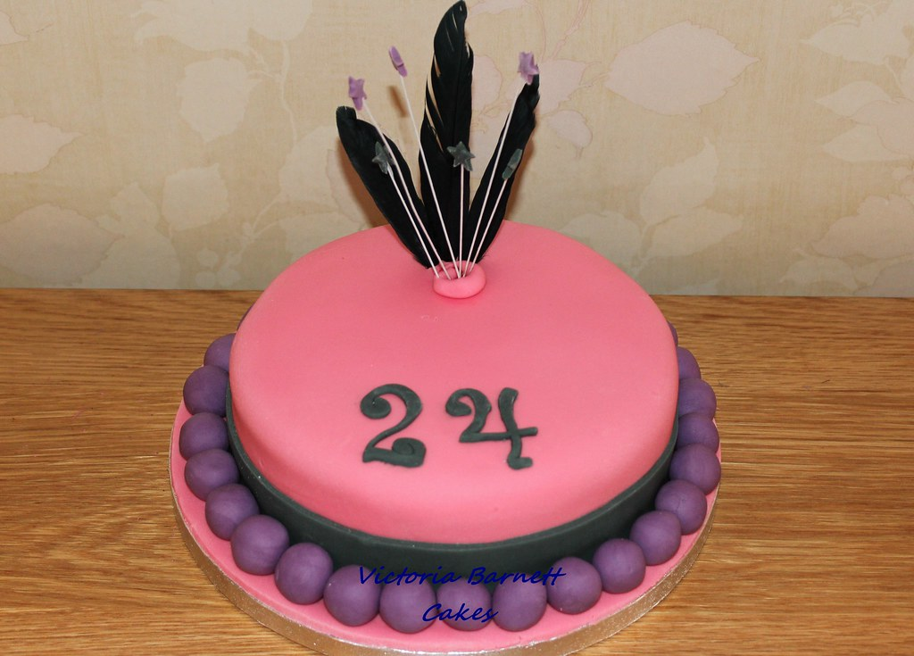 Remarkable 24Th Birthday Cake Victoria Barnett Flickr Personalised Birthday Cards Veneteletsinfo