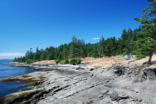 Oceanfront Campground at Ruckle Park, Saltspring Island, Gulf Islands National Park, British Columbia, Canada