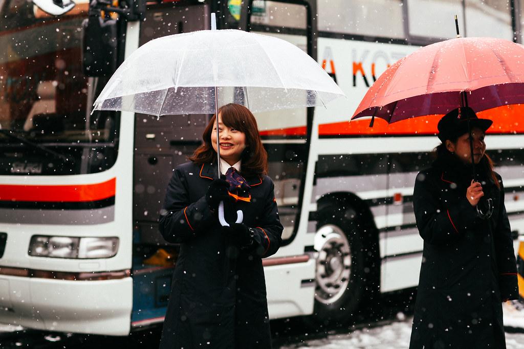 Umbrellas in the Snow
