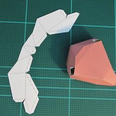 วิธีทำโมเดลกระดาษเรขาคณิตรูปกระต่าย (Rabbit Geometric Papercraft Model) 010