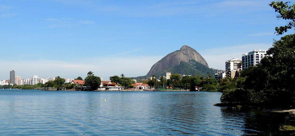Lagoa de Sacopenapã (ou Rodrigo de Freitas). Rio de Janeiro, Brasil