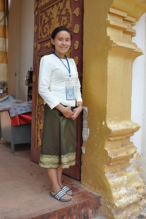 Local lady in traditional Lao dress | by shankar s.